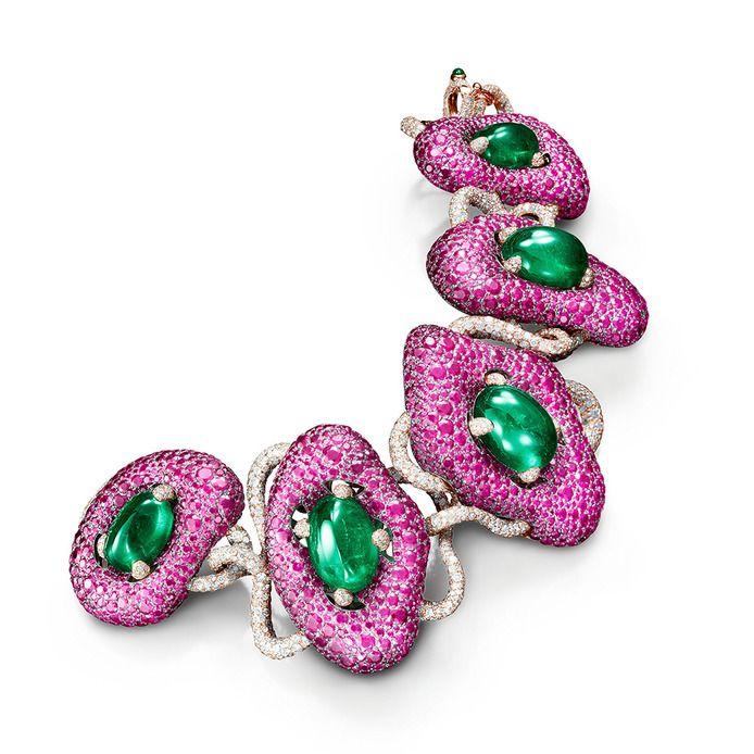 de Grisogono emerald and ruby bracelet