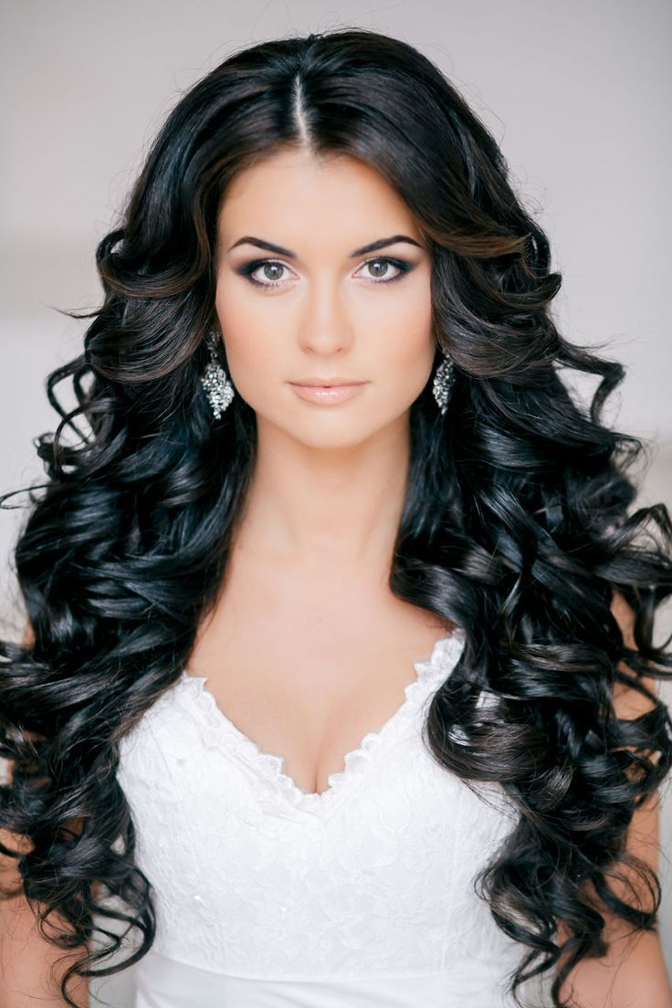#Stunning #Black #Curls - Feminine #Bridal #Hair