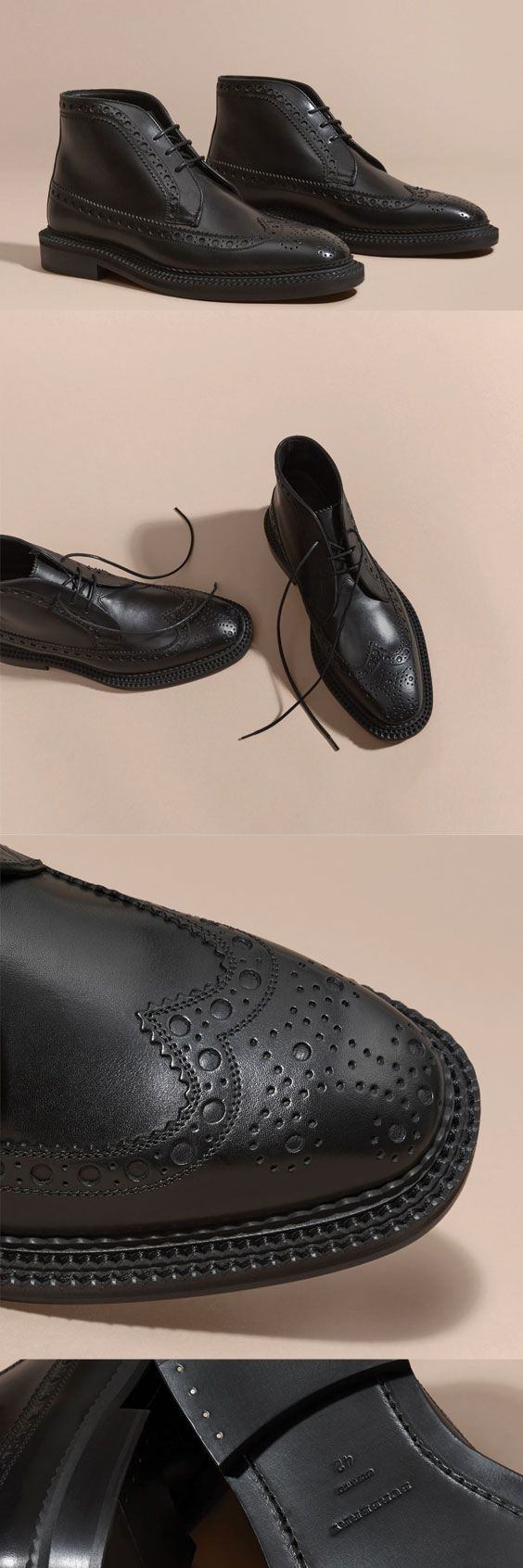 Burberry Leather Brogue Boots $825 #ads Men shoes boots