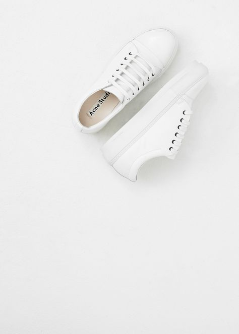 // White on White Sneakers