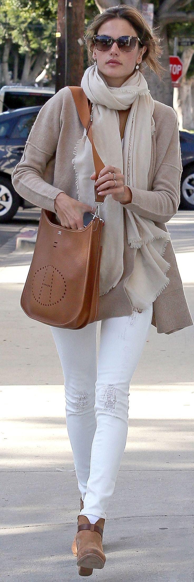 Alessandra Ambrosio in White Jeans