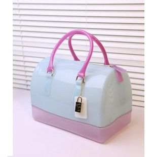 Bags, Luggage & Bags, 2013 Fulla furla candy bag candy colored jelly bag handbag...