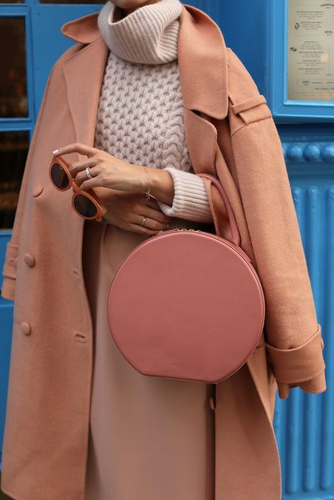 Coat: Tibi  ( also here ). Slip Dress (under $50) . Shoes: Club Monaco . Bag: Ma...