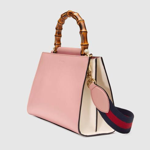 Gucci Nymphaea leather top handle bag - Gucci Women's Top Handles & Boston B...