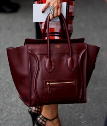 Oxblood Celine bag.    If only I could afford and justify purchasing this little...