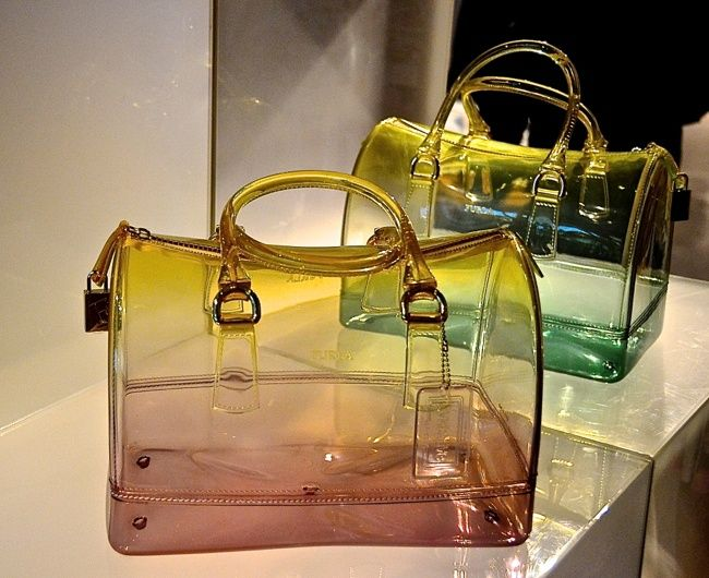 furla candy bag pink or aqua clear