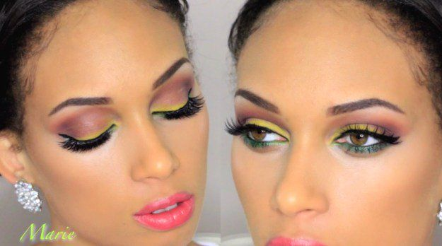 Colorful Eye Makeup for Brown Eyes