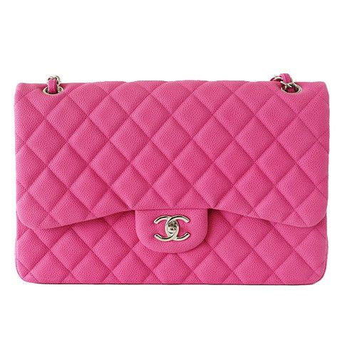 Chanel Bag Jumbo Double Flap Quilted Hot Pink Fuchsia Sueded Caviar new