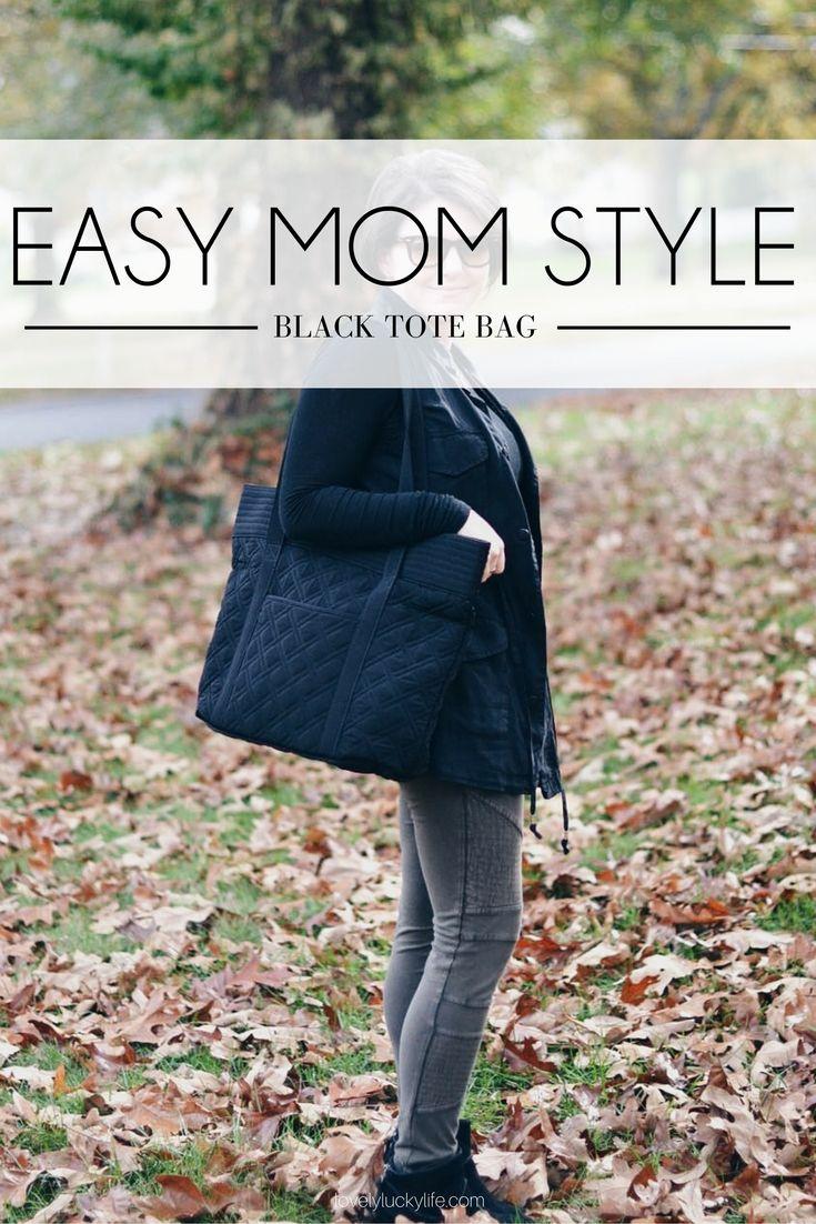 Mom Must-Have: Quilted Vera Bradley Black Bag