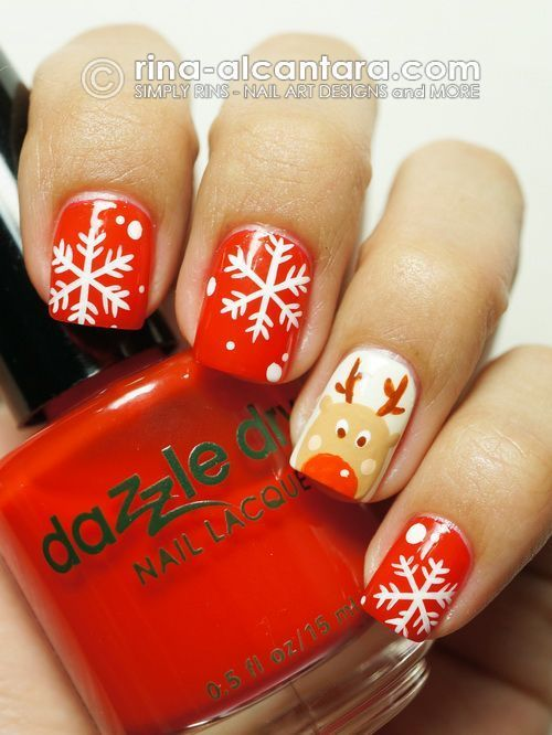 Cool 20 Best and Easy Christmas Toe Nail Designs You must wait some time in orde...