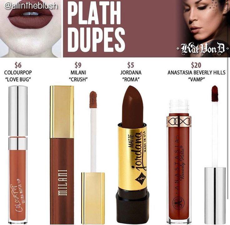 Kat Von D liquid lipstick dupes in the shade Plath // Kayy Dubb