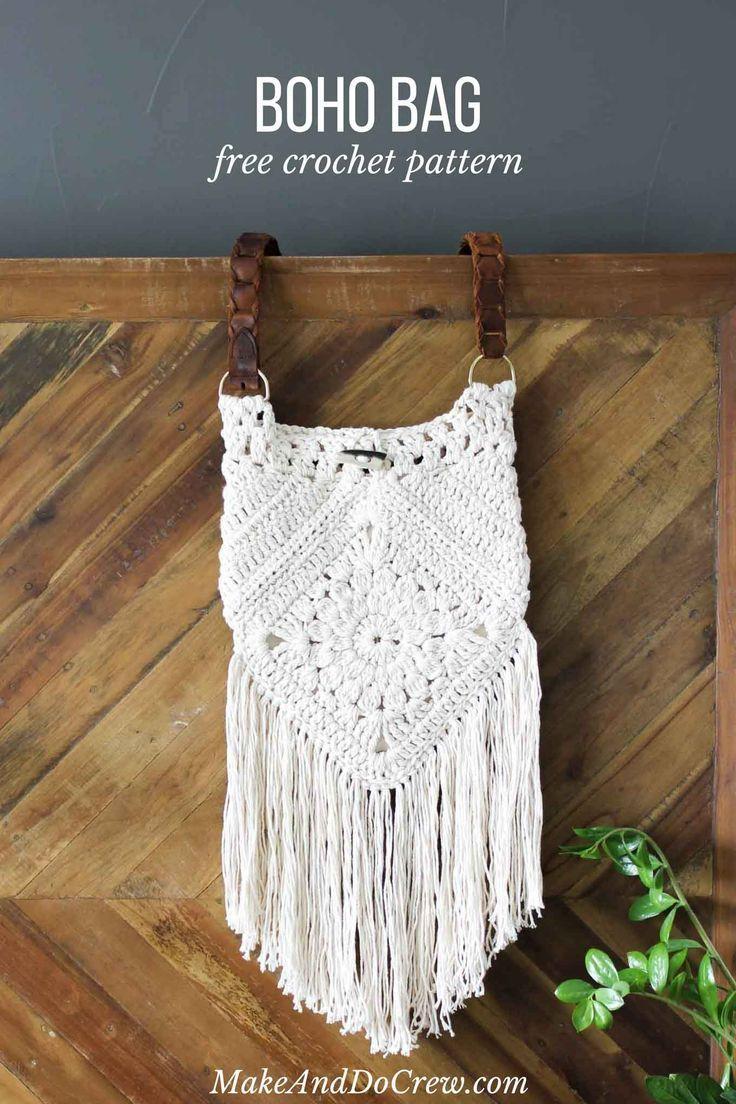 Urban Nomad Boho Bag - Free Crochet Pattern