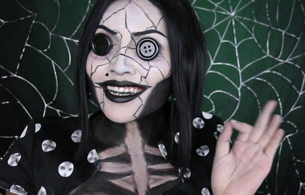 Other Mother (Coraline) | 15 DIY Movie-Inspired Makeup Inspirations for Hallowee...