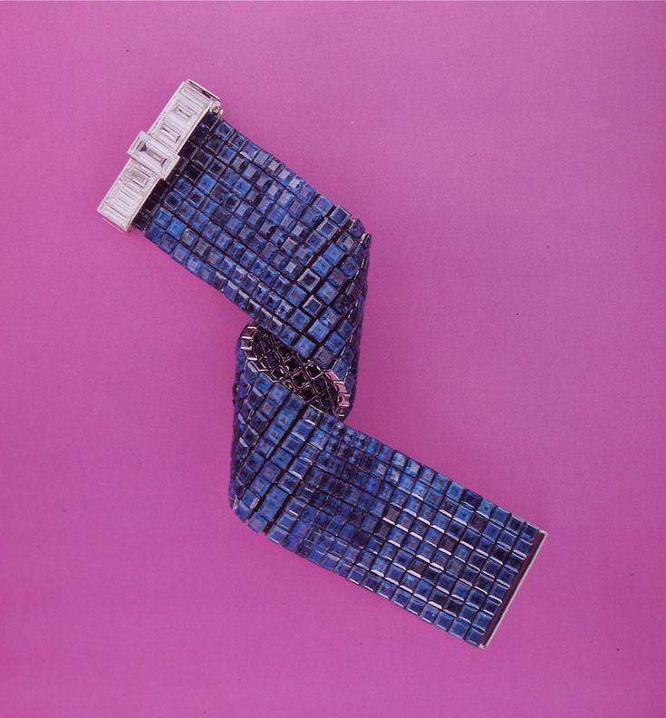 Van Cleef & Arpels Invisibly Set Sapphire Bracelet 1937