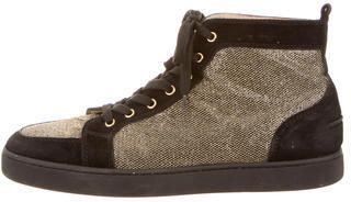 Christian Louboutin Metallic Orlato High-Top Sneakers