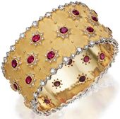 rubies.work/... Buccellati gold, ruby, and diamond bracelet. Via Diamond in the ...
