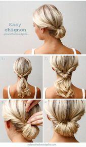 Updo Hairstyle Tutorials For Medium-Length Hair | Makeup Tutorials