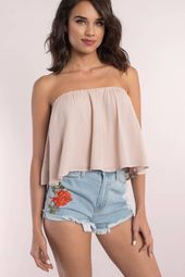 I Fell For You Embroidered Rose Denim Shorts