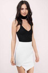 Lisa Asymmetric Mini Skirt