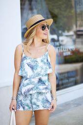 Palm Print Spring / Summer Look