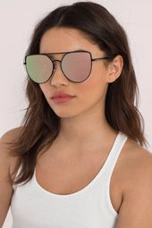 QUAY Santa Fe Mirrored Oversized Sunglasses