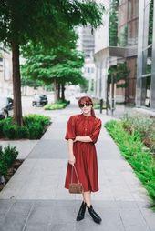 Rust Vintage Dress | Textures of Grace