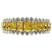 1990 Fancy Yellow Diamond Bracelet reminds me of the Hooker diamonds at the Smit...
