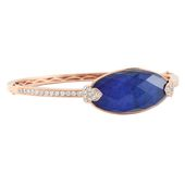 an arm party favorite: royal blue lapis in rose gold and diamonds