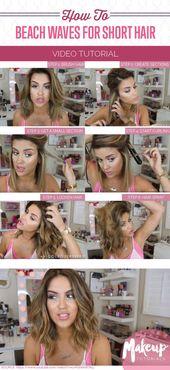 How To Get Beach Waves For Short Hair | Makeup Tutorials