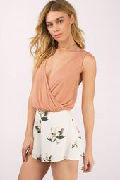 Zoey Surplice Crop Top
