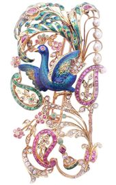 A tall and exquisitely crafted Art Nouveau Brooch France, circa 1900.