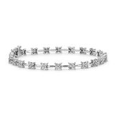 Beautiful Bouquet Diamond Bracelet in 18k White Gold | #Wedding #Jewelry #Diamon...