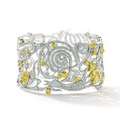 Boodles - Firebird Bangle, yellow and white diamonds in platinum and yellow gold