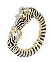David Webb Zebra Bracelet