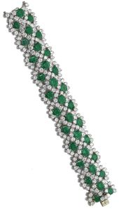 Emerald and diamond bracelet, Van Cleef Arpels.