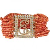 Mandarin garnet and diamond bracelet by Erica Courtney
