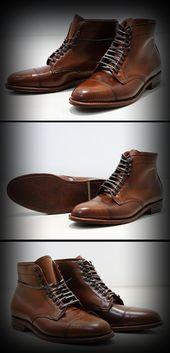 Alden cordovan hunting boots.
