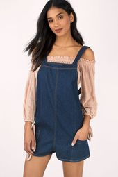 Chelsea Denim Shift Romper