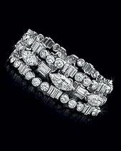 An Art Deco Diamond Bracelet, by Cartier