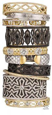 Jude Frances bracelets, bangles and cuffs ~ diamonds, white sapphires,18kt gold ...