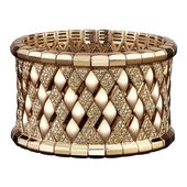 Robert Procop 18k Rose Gold & Diamond Couture Cuff
