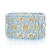 Tiffany Yellow Diamonds inspire a bracelet as radiant as sun-dappled flowers.