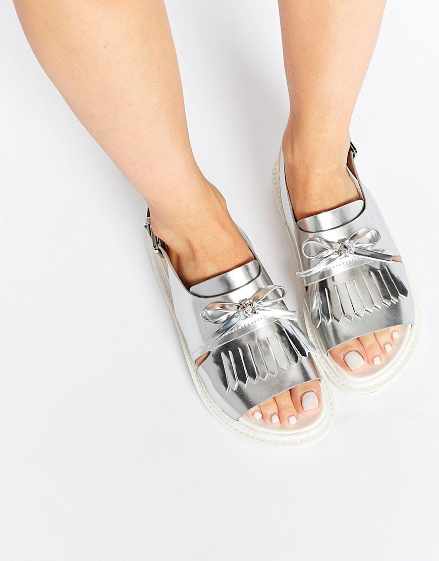 ASOS FANYA Fringe Sandals at asos.com