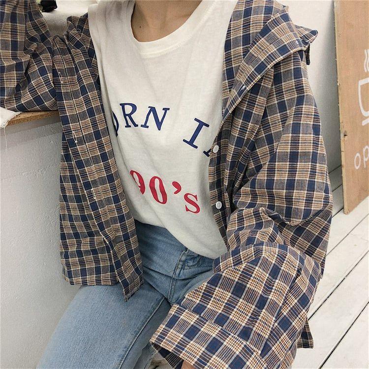 "vividspark:""Plaid Shirt"" uploaded by ᴛᴏᴋʏᴏ; on We Heart It"