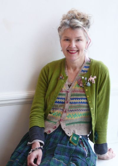 Julie Arkell This is a good picture of aging gracefully. She doesn't look