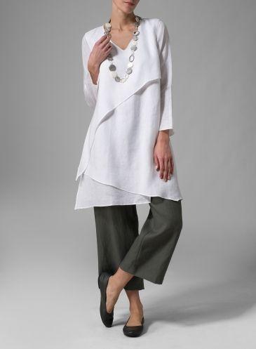 Linen Layering V-neck Tunic